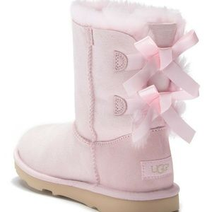 UGG Australia Bailey Bow II Pink Boots Girls
